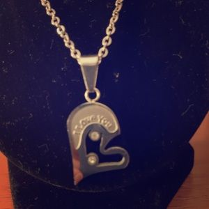 Jewelry - Stainless I love you half heart necklace
